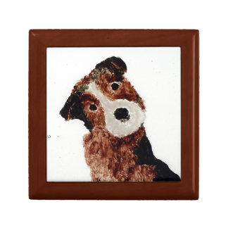 Cute Terrier Dog Art Gift Box