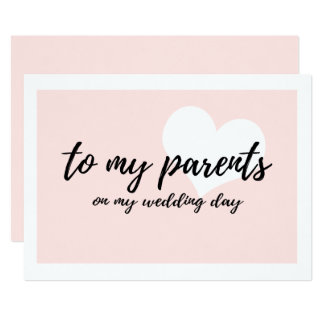 Cute to my parents on my wedding day card