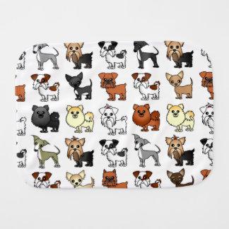 Cute Toy Dog Breed Pattern Burp Cloth