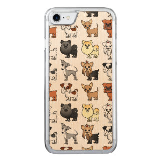 Cute Toy Dog Breed Pattern Carved iPhone 8/7 Case