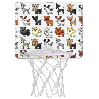 Cute Toy Dog Breed Pattern Mini Basketball Hoop