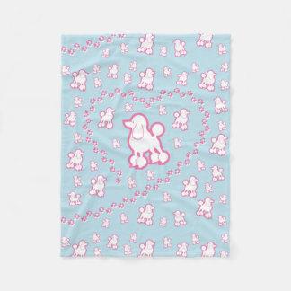 cute Toy Poodle Pattern Fleece Blanket