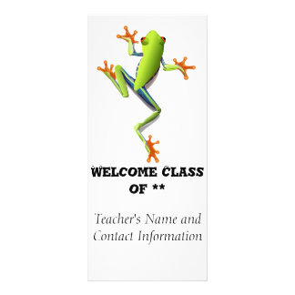 Cute Tree Frog Rack Card Design