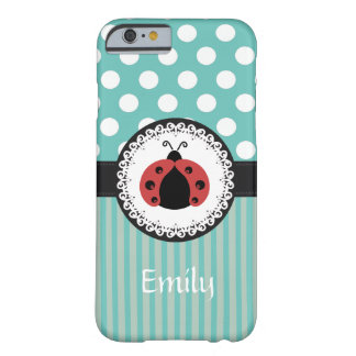 Cute Trendy  girly  fun ladybug personalized Barely There iPhone 6 Case