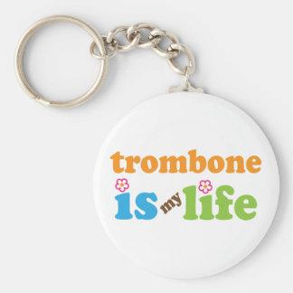 Cute Trombone is My Life Key Ring