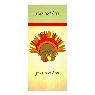 Cute Turkey Thanksgiving Rack Card