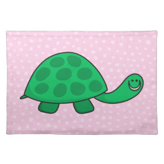 Cute turtle or tortoise cartoon animal placemat