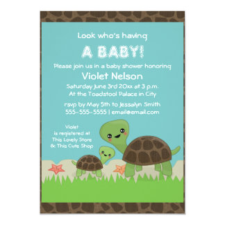 custom tortoise invitations announcements