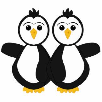 Cute Twin Penguins Photo Cutout