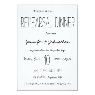 Cute typography rehearsal dinner invitations