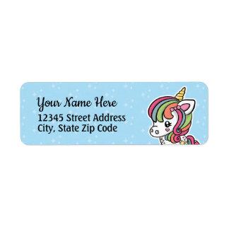 Cute Unicorn return address labels