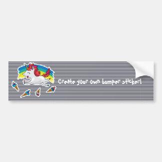 Cute Unicorn with rainbow cool illustration Bumper Sticker