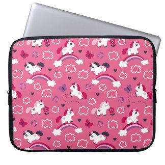 Cute Unicorns Pattern Laptop Sleeve