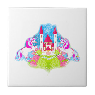 cute unicorns tile