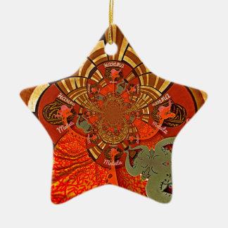 Cute Unique Giraffe Animal Hakuna Matata Design Christmas Ornament