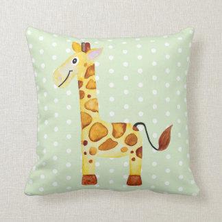 Cute Unisex Watercolor Giraffe Safari Baby Nursery Cushion