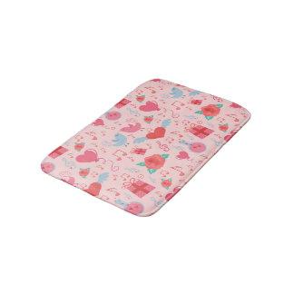 Cute Valentine's Day Background Bath Mat