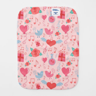Cute Valentine's Day Background Burp Cloth