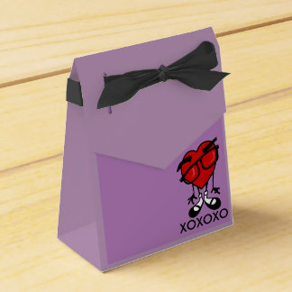 CUTE VALENTINES DAY HEART TENT BOX PARTY FAVOR BOXES