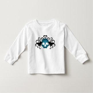 Cute vampire skull in blue toddler toddler T-Shirt
