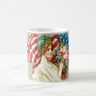CUTE VINTAGE,AMERICAN FLAG MUGS