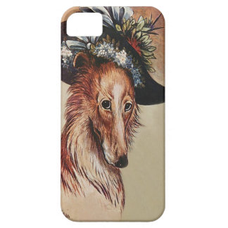 Cute Vintage Anthropomorphic Collie Dog - Wain Barely There iPhone 5 Case