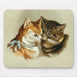 Cute Vintage Cats Mousepads