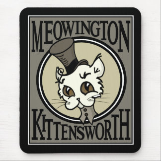 CUTE VINTAGE STYLE KITTY CAT MOUSE PAD
