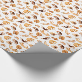 Cute Watercolor Dogs Illustrated Pattern Wrapping Paper
