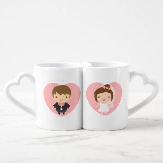 Cute Wedding Couple Boy and Girl Newly Married Couples Mug
