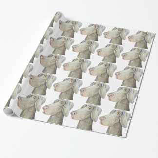 Cute weimaraner painting wrapping paper