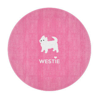 Cute West Highland Terrier - I Love Westies Cutting Board