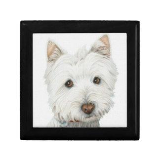 Cute Westie Dog Gift Box