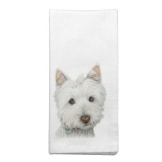 Cute Westie Dog Napkins