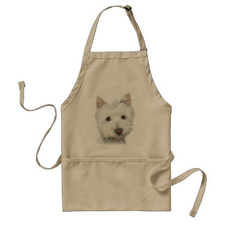 Cute Westie Dog Standard Apron