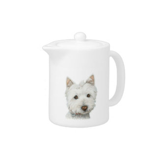 Cute Westie Dog Teapot
