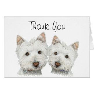 Cute Westie Dogs Greeting Card