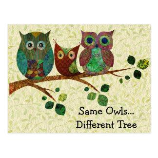 Cute Whimsical Owls Change of Address Postcard