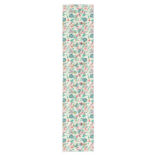 Cute Whimsical Spring Floral Short Table Runner