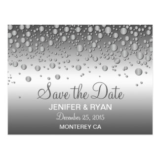 Cute winter wedding save the date postcard