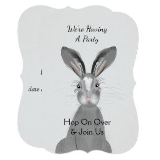 Cute Woodland Animal Bunny Rabbit Peronalized Card