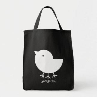 Cute Yatagarasu (white) Grocery Tote Bag