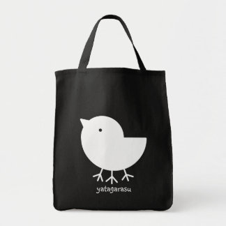 Cute Yatagarasu (white) Tote Bag