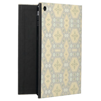 Cute Yellow and Gray Vintage Geometric Cover For iPad Air