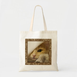 Cute Yellow Kitten Tote Bag