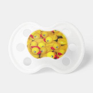 Cute yellow rubber duckies dummy