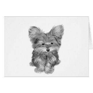 Cute Yorkie Dog Greeting Card