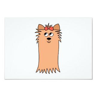 Cute Yorkshire Terrier, Dog. Card