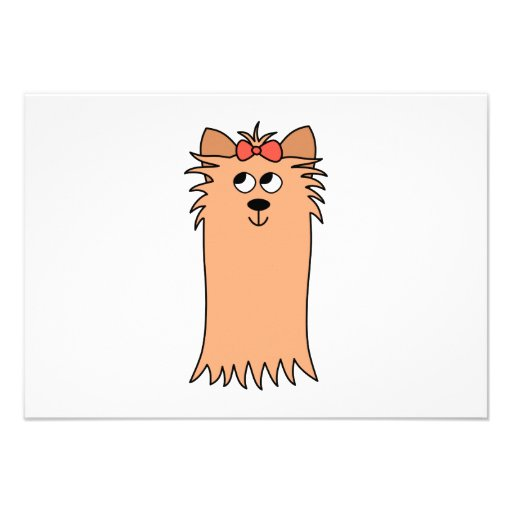 Cute Yorkshire Terrier, Dog. Invitations