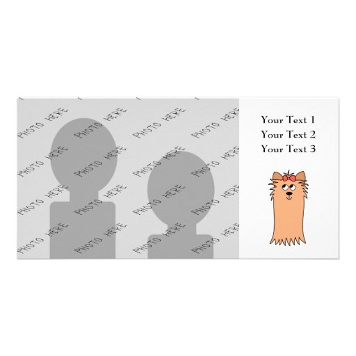Cute Yorkshire Terrier, Dog. Photo Cards